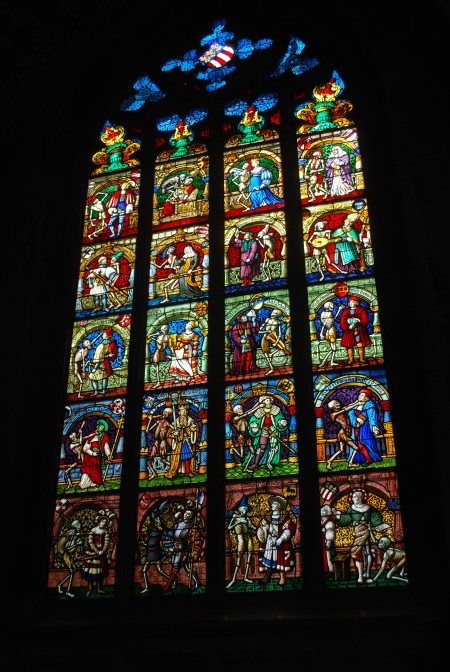 Stained glass window in Bern Cathedral